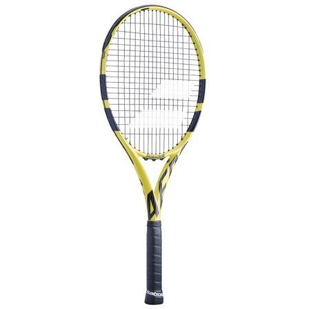 BABOLAT - Grip 2 Aero G Adult Tennis Racket - Black / Yellow