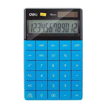 DELI - Deli Calculator Plastic 12 Digits Blue