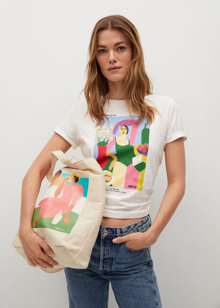 Mango - light beige Women's day bag