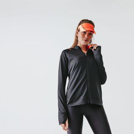 KALENJI - Large  WOMEN'S RUN DRY JACKET, Black