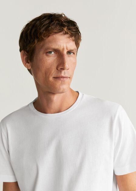 Mango - white Sustainable cotton t-shirt