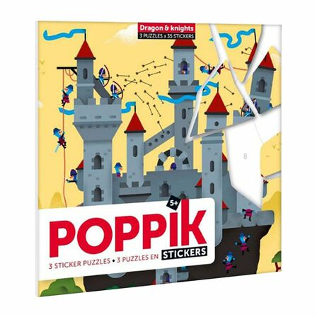 POPPIK - Poppik My Sticker Puzzle Dragon And Knights Stickers