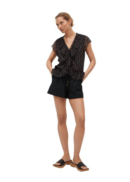 Mango - black Adjustable cord short, Women