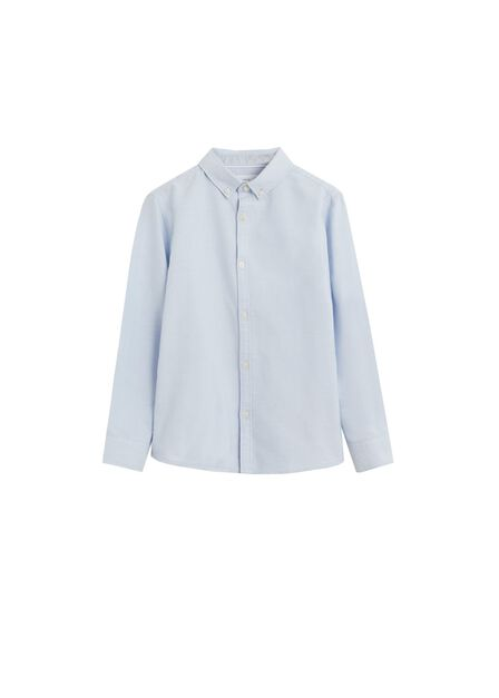 Mango - turquoise - aqua Oxford cotton shirt