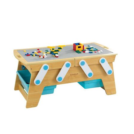 KIDKRAFT - Kidkraft Building Bricks Play N Store Table Dollhouse
