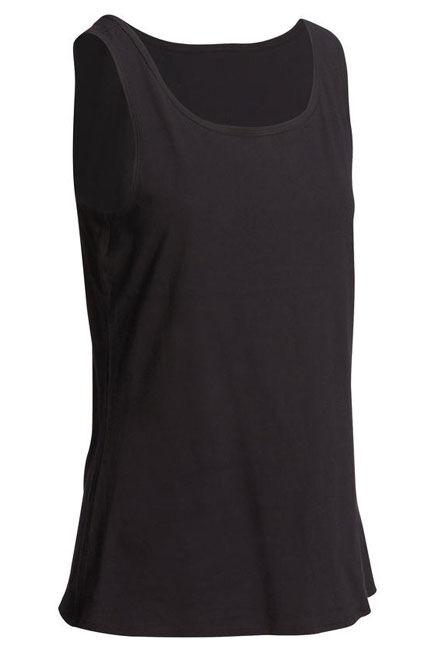 NYAMBA - 100 Women's gentle gym   pilates tank top - black, S