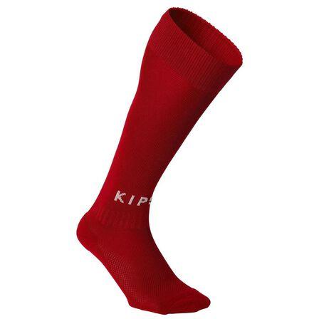 KIPSTA - EU 27-30  Kids' Football Socks F100, Scarlet Red