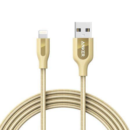 ANKER - Anker Powerline+ Gold Lightning Cable 6Ft