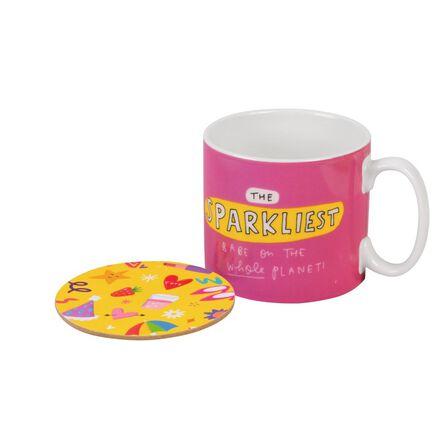 THE HAPPY NEWS - The Happy News Sparkliest Babe Mug & Coaster Set