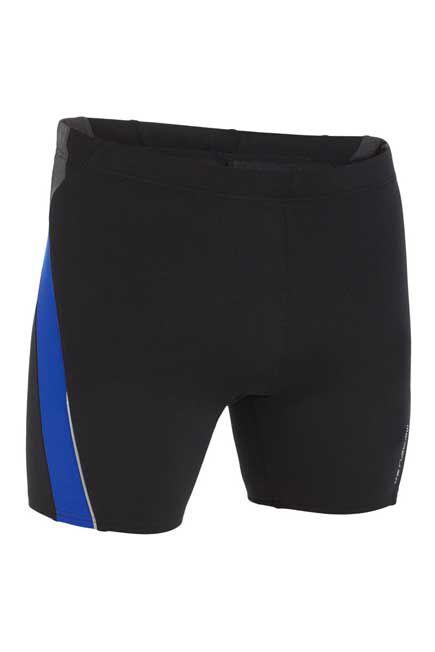 NABAIJI - 500 men's long swimming boxer shorts - Black blue , M
