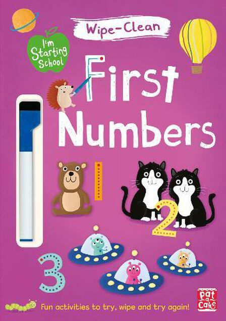QUERCUS UK - First Numbers Wipe-Clean Book with Pen