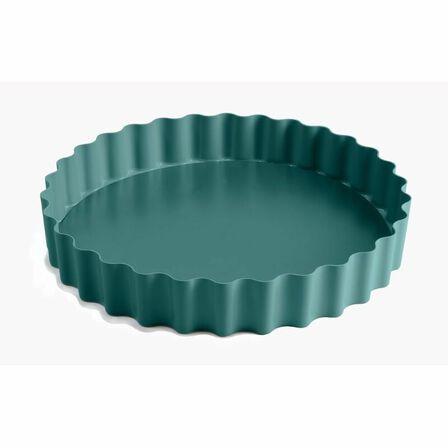 JAMIE OLIVER - Jamie Oliver Nonstick Loosebase Tart Tin 10In/25cm Atlantic Green