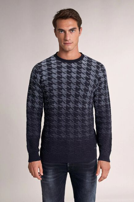Salsa Jeans - Blue Thick jacquard sweater