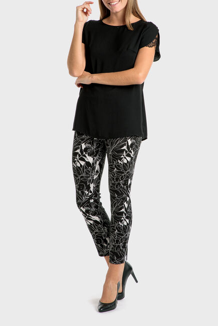 Punt Roma - Black lace top