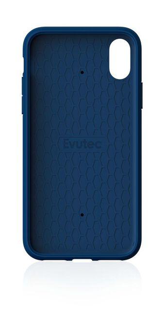 EVUTEC - Evutec Aergo Ballistic Nylon with Afix Case Blue for iPhone XR