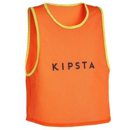 KIPSTA - Kids' Team Sports Bib - Fluo Blood Orange