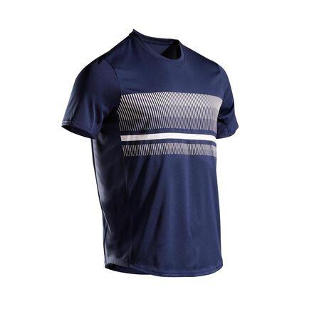 ARTENGO - Medium  Men's Tennis T-Shirt TTS100, Navy Blue
