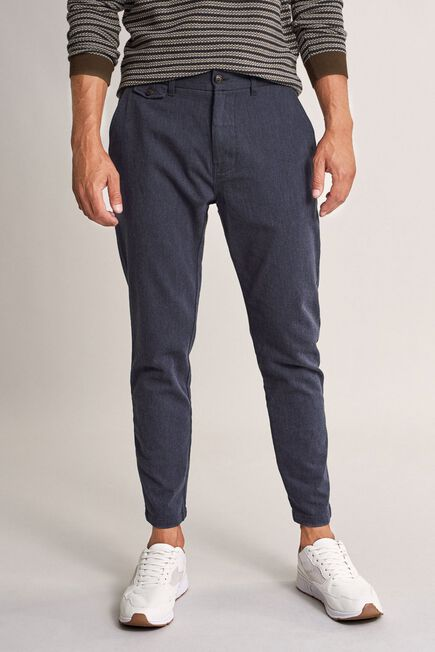 Salsa Jeans - Blue Karl loose slim textured trousers