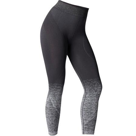 DOMYOS - XS Seamless 7/8 Yoga Leggings - Black