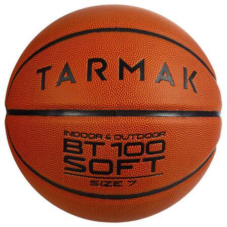 TARMAK - Us 7 Basketball Bt100 For Men Ages 13 And Up - Orange - Hazelnut