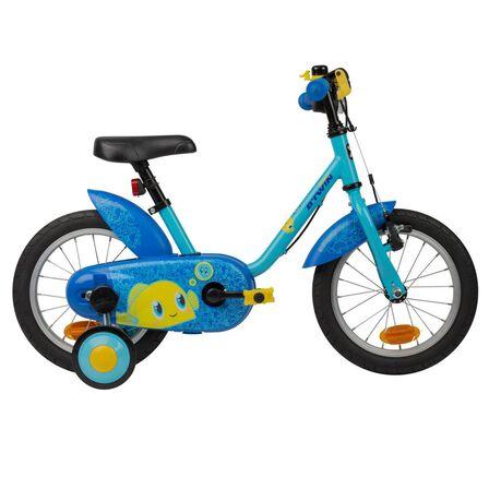 BTWIN - Kids' 14-Inch Bike (3-4.5Y) 500 - Ocean - Blue