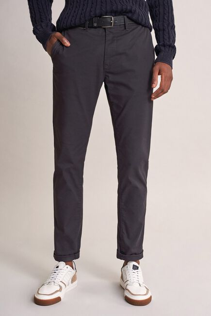 Salsa Jeans - Black Andy slim trousers with microprint