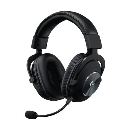 LOGITECH - Logitech G PRO X Gaming Headset with Blue VO!CE Microphone Tech DTS Headphone X 7.1 Surround Sound and 50mm PRO-G Drivers for PC