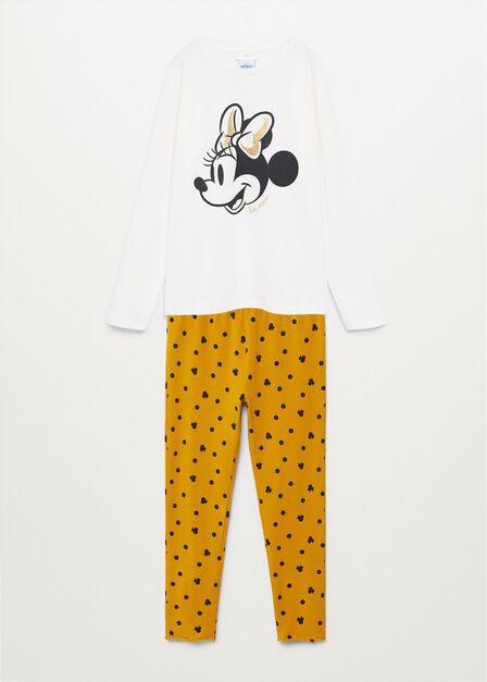 Mango - natural white Minnie Mouse long pyjamas