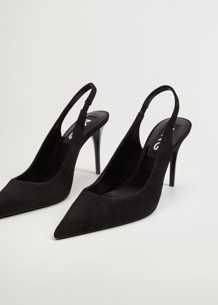 Mango - Black Leather Pumps, Women