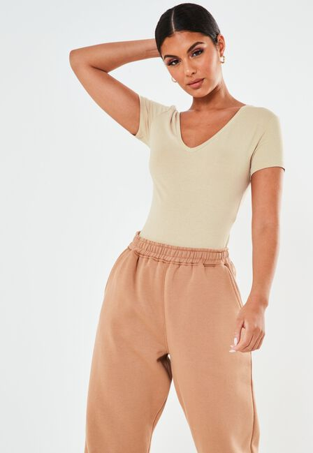 Missguided - V NECK FITTED T SHIR