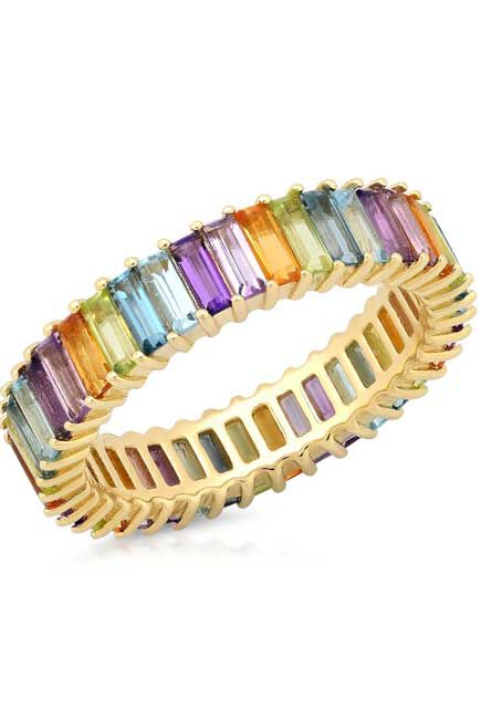 Missguided - Pastel Baguette Ring Pack
