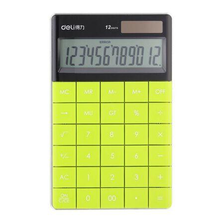 DELI - Deli Calculator Plastic 12 Digits Yellow