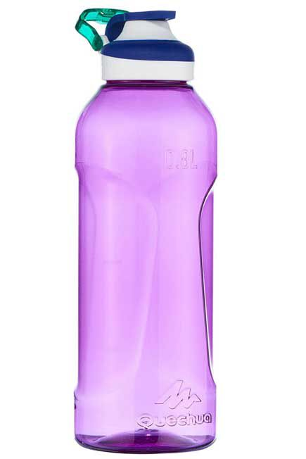QUECHUA - Flask 500 Tritan water bottle | Quick-open - 0.8 l - purple, Unique Size