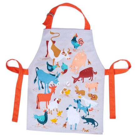 THREADBEAR DESIGN - Threadbear Design Fred's Farm Apron 3-6 Yrs