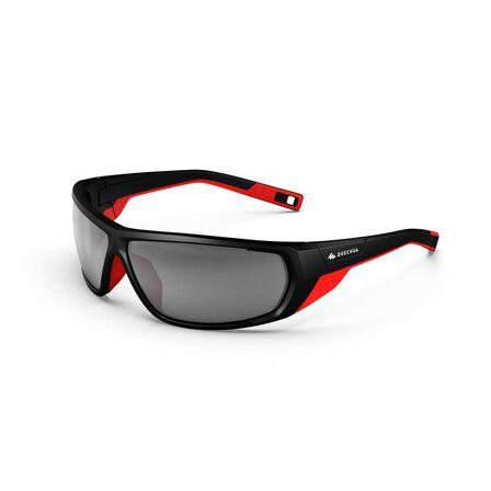 QUECHUA - Unique Size  Adult Hiking Sunglasses Category 4 Polarised MH570, Black