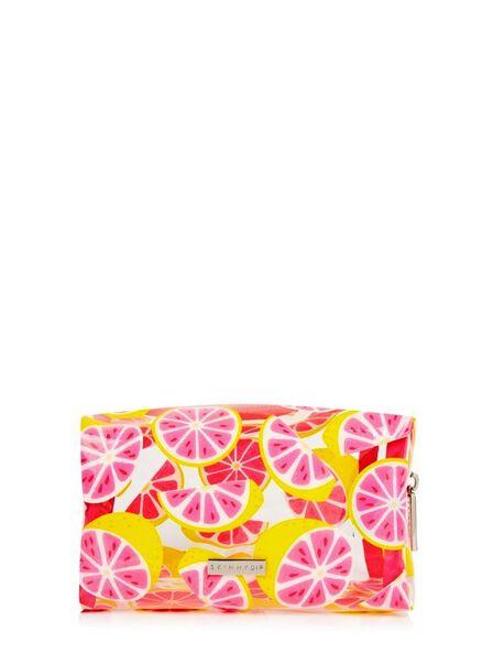 SKINNY DIP - Skinny Dip Makeup Bag Glitter Grapefruit