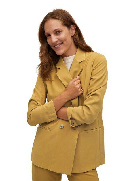 Mango - Medium yellow Cross button blazer