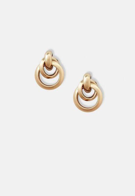 Missguided - Gold Look Oversized Knot Stud Earrings, Women