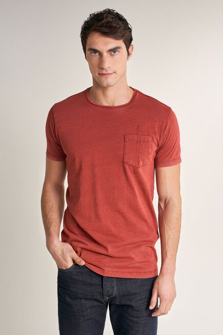 Salsa Jeans - Red T-shirt with plant dye and pocket