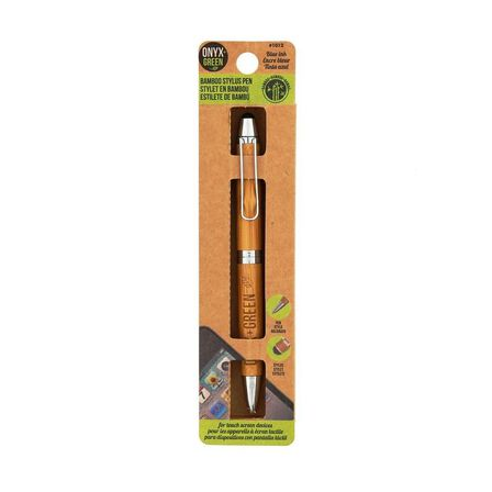 ONYX + GREEN - Onyx & Green 2 In 1 Stylus Pen Made From Bamboo 0.7 mm Eco Friendly