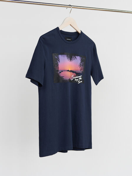 Reserved - Navy Printed T-Shirt, Men