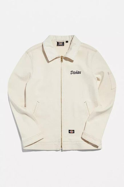 Urban Outfitters - CREME Dickies Ecru Halma Elsen Zip-Through Jacket