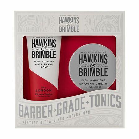 HAWKINS & BRIMBLE - Hawkins & Brimble Grooming Gift Set 2 Piece Shave Cream & Post Shave Balm