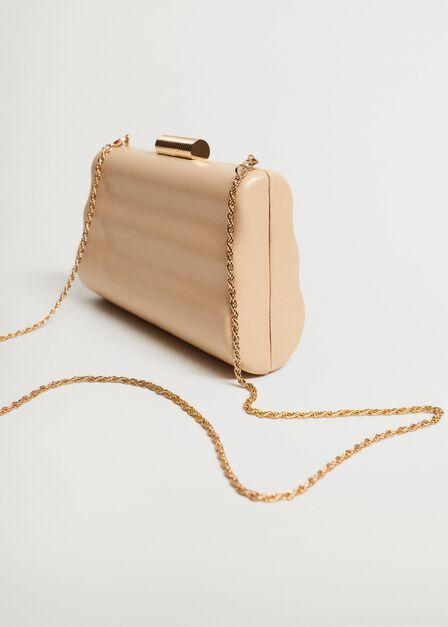 Mango - lt-pastel pink Box clutch with chain
