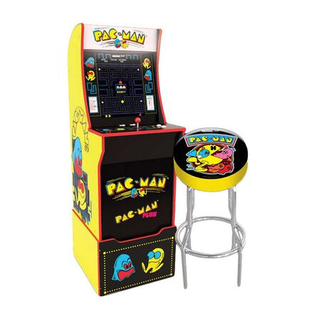 ARCADE 1UP - Arcade 1Up PAC-MAN with Light-Up Marquee/Stool/Riser