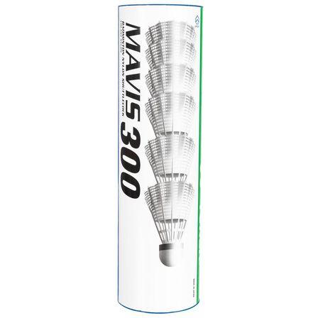 BOYAUDERIE DE L'EST - .  Badminton Plastic Shuttlecocks Mavis 300 6-Pack - White, Default