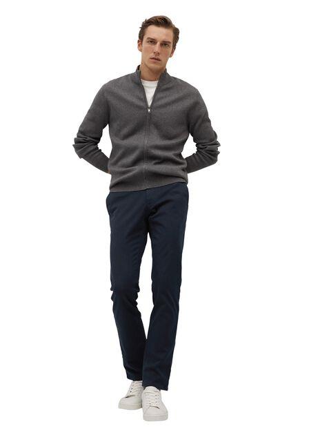 Mango - navy Slim fit serge chino trousers