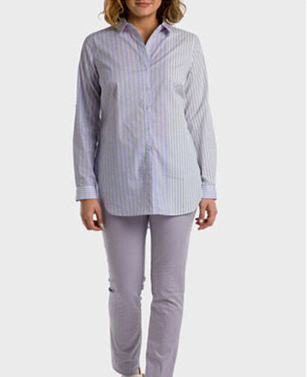 Punt Roma - Mauve Striped Shirt