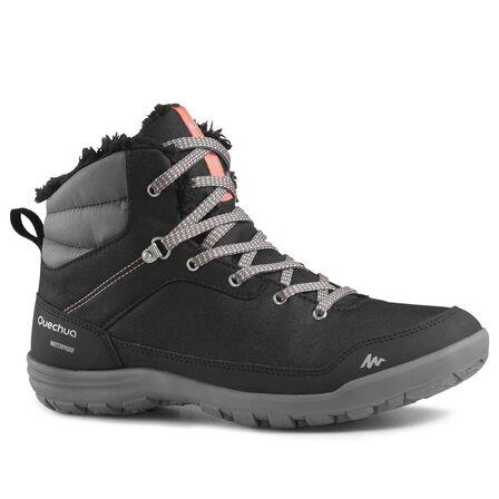 QUECHUA - Sh100 women's warm mid black snow hiking boots, EU 42