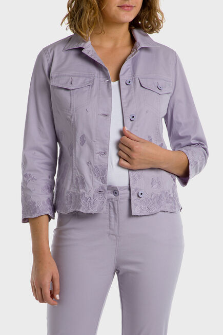 Punt Roma - Mauve embroidered jacket